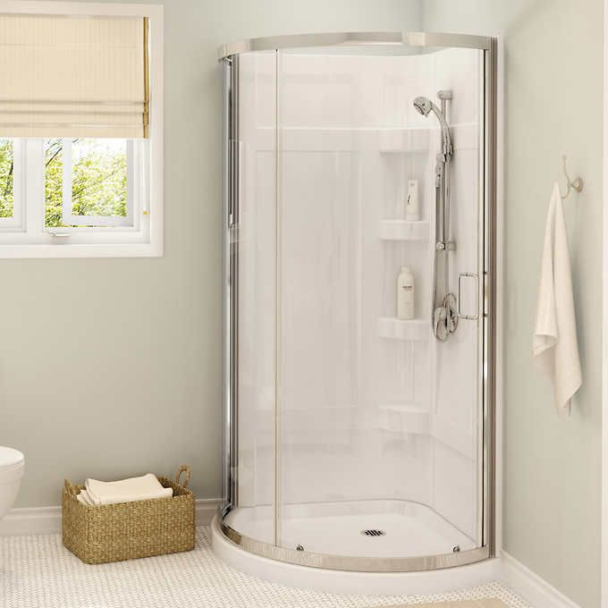 Pin By Loretta Heimbecker On Bathroom Ideas Corner Shower Kits Corner Shower Corner Shower Units