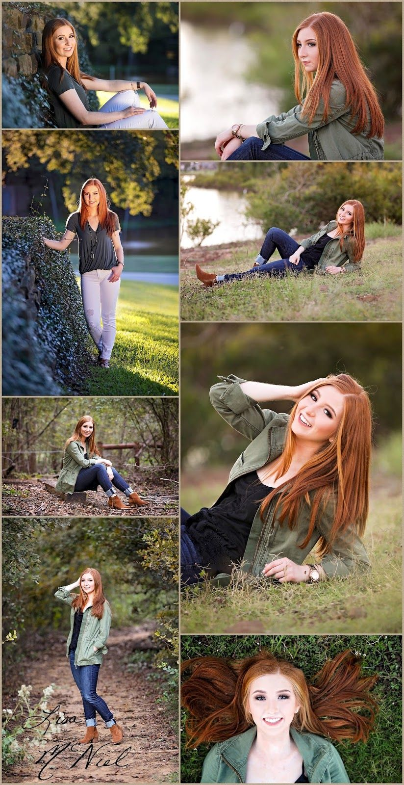 Beautiful Red-haired Scholar Senior Pictures by North Texas Photographer Lisa McNiel