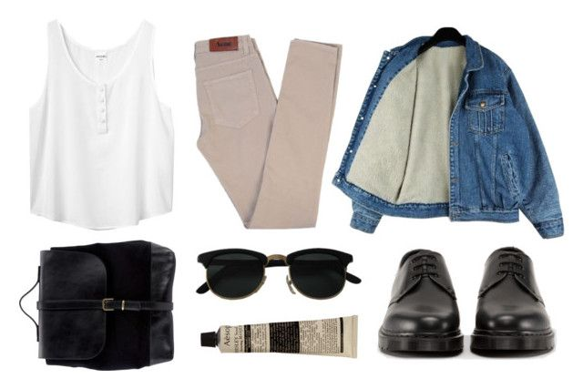 """""""untitled #29"""" by earlybirds ❤ liked on Polyvore featuring Acne Studios, Dr. Martens, Steve Mono, Aesop, Monki, women's clothing, women, female, woman and misses"""