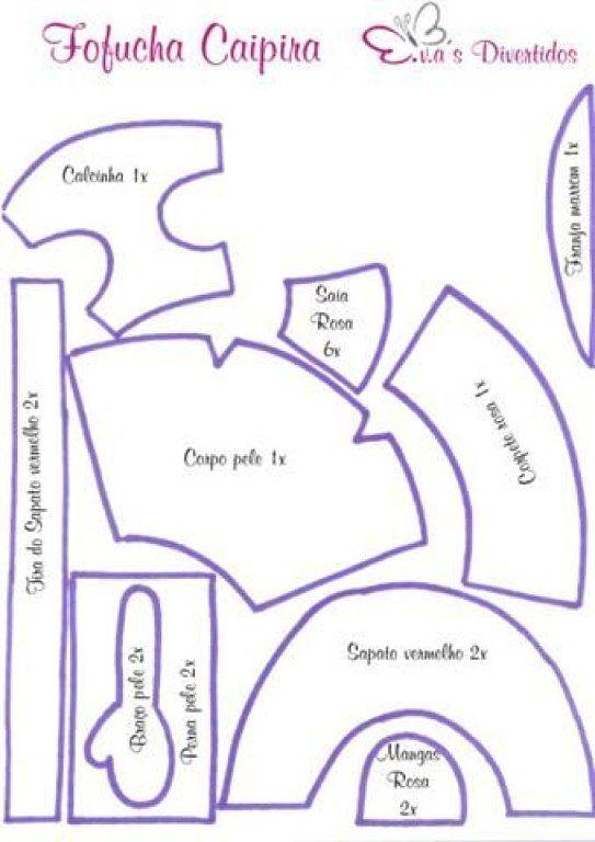 Patrones Para Poder Imprimir De Fofuchas 3d Imagui Moldes