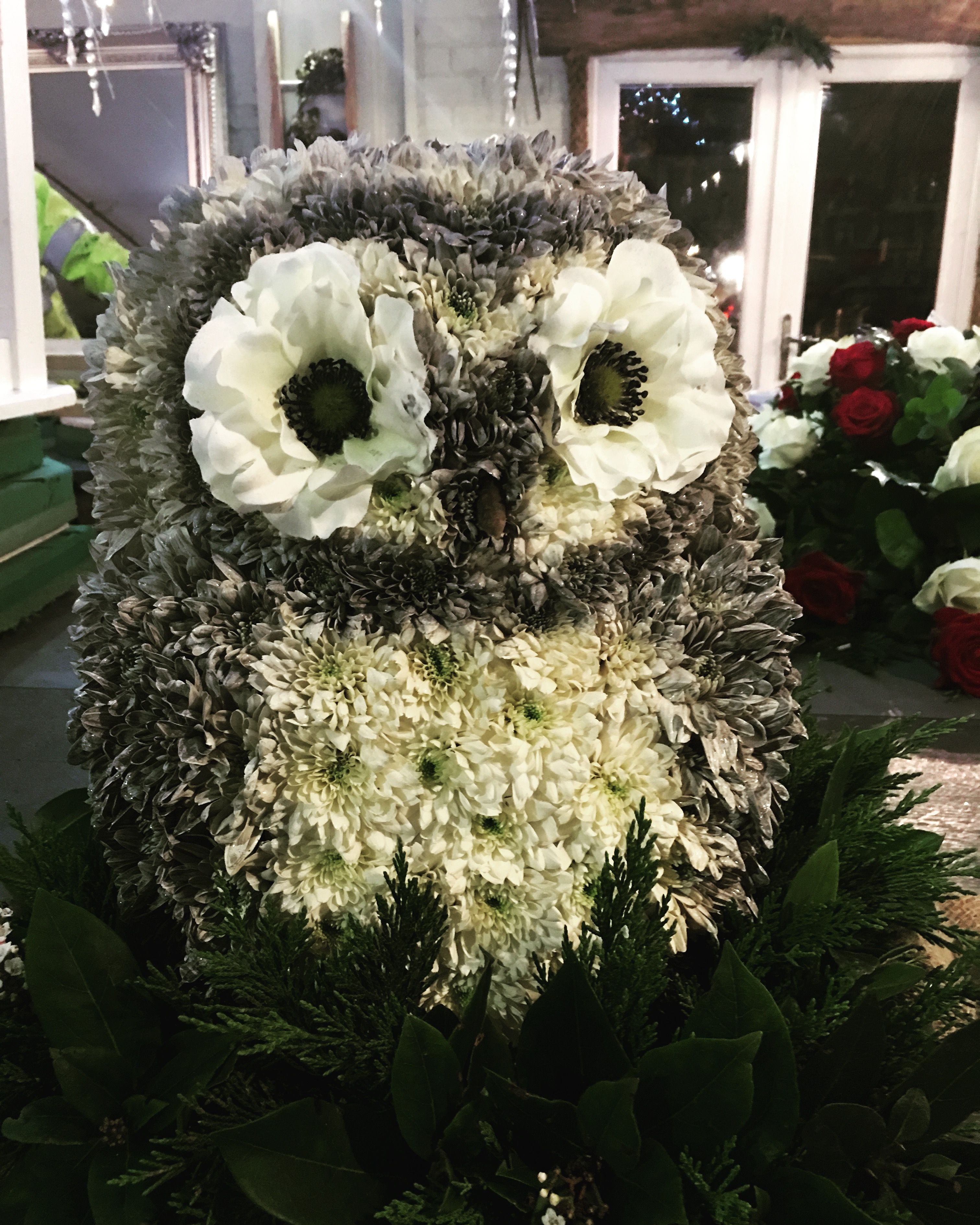 Bespoke funeral flower tribute owl funeral flower tribute www bespoke funeral flower tribute owl funeral flower tribute thefloralartstudio izmirmasajfo Image collections