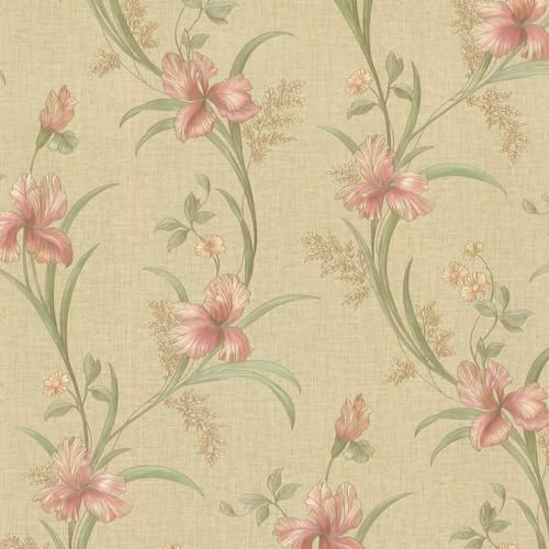 Misty Pink Lily Trail Wallpaper At Menards