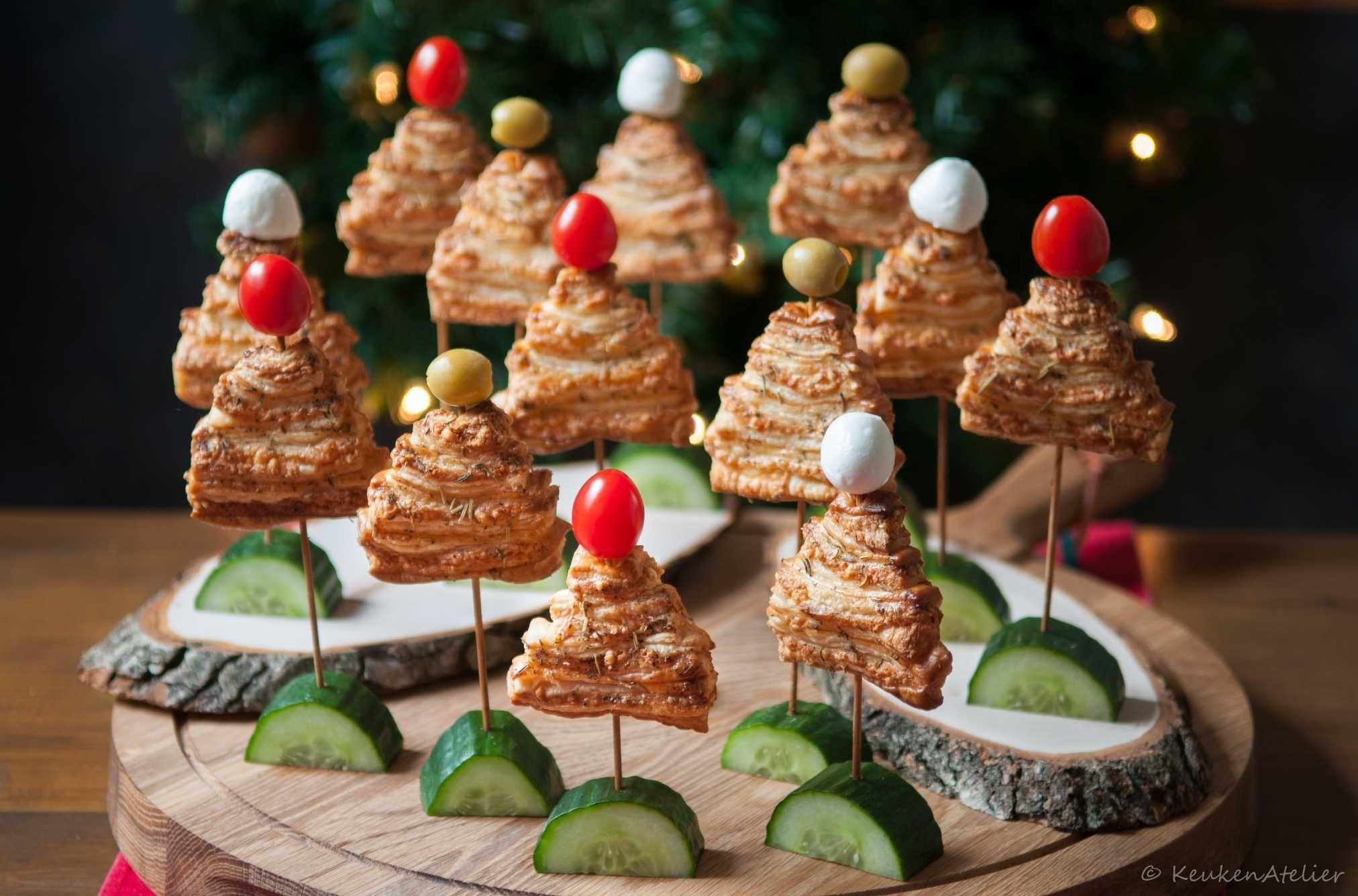 Kerstboom kaaskoekjes - Keukenatelier