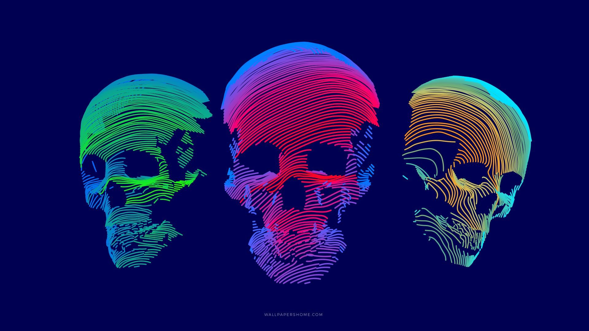 wallpapers abstract abstraction modern skulls Girl