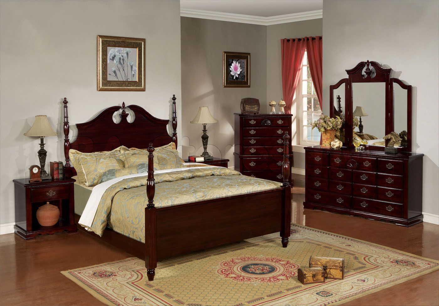 Cherry Bedroom Furniture Dark Cherry Wood Bedroom Furniture