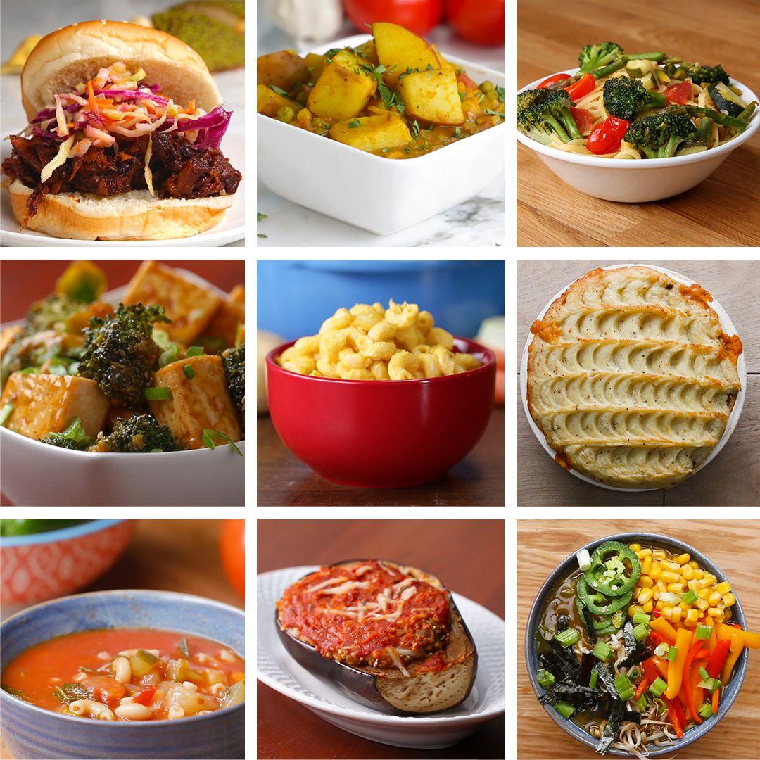 9 Delicious Vegan Friendly Dinners Vegetarian Vegan Recipes Vegan Dinner Recipes Vegetarian Recipes