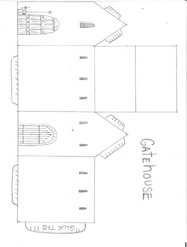 cut out castle template paper castle cut out castle cut out template