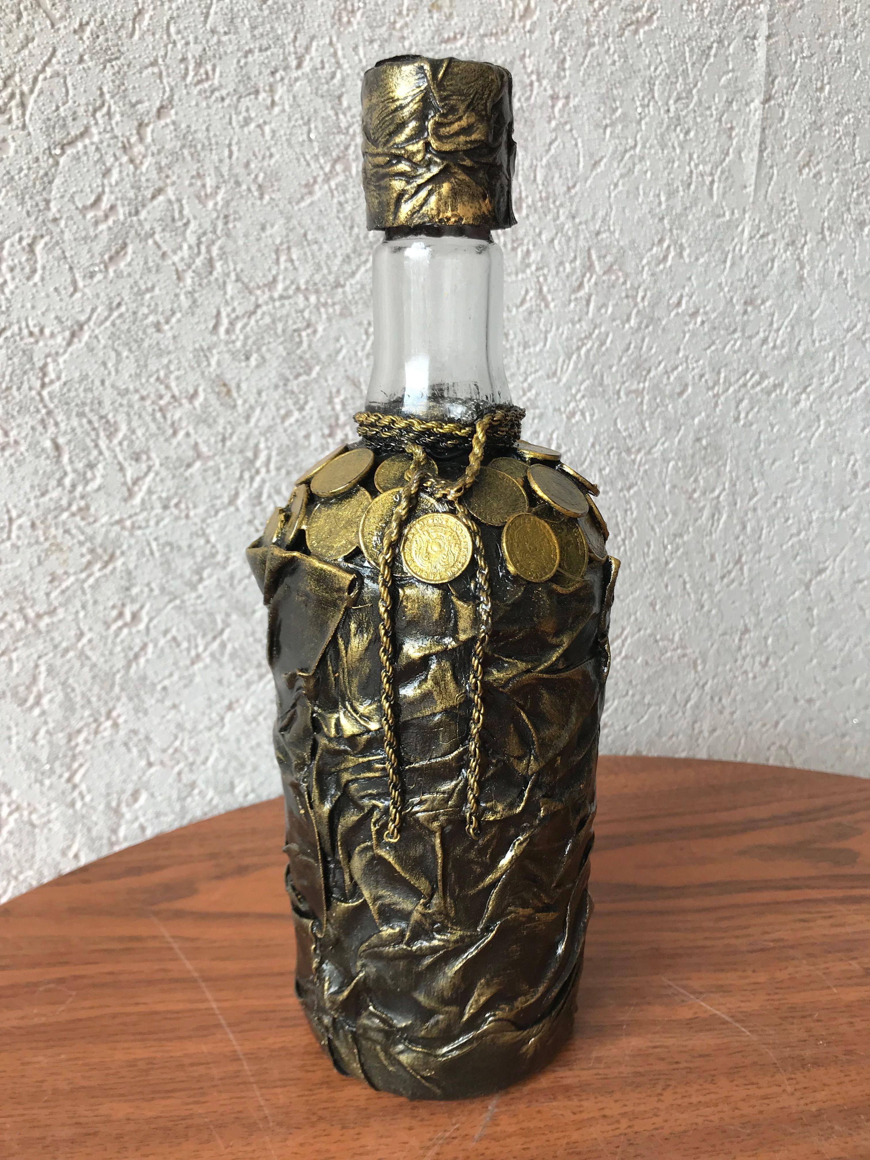 декорирование бутылок монетами мастер класс с фото доставка