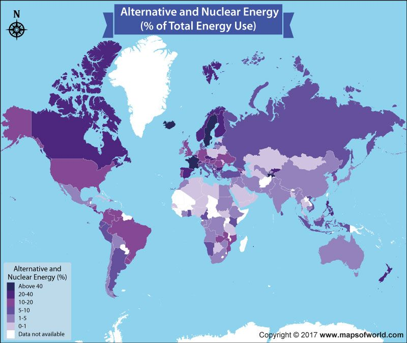 Countries using alternative and nuclear energy to save the world map shows the percentage of alternative and nuclear energy using by countries of the world iceland is on top position with percentage of 895 gumiabroncs Image collections