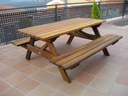 Mesas de madera jardin construcciones uruguay hogar for Muebles madera maciza uruguay