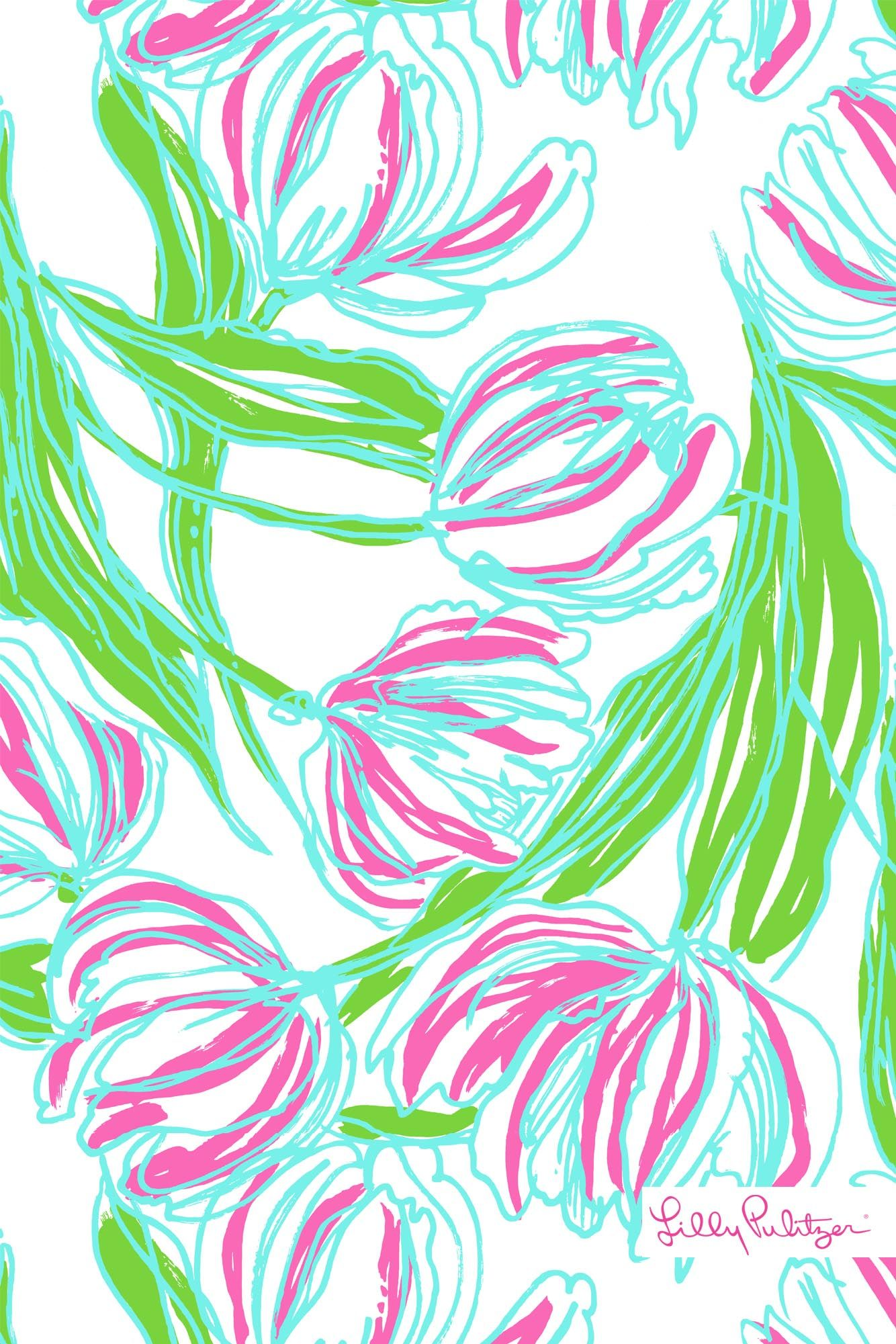 lilly pulitzer ring the bellboy iphone wallpaper