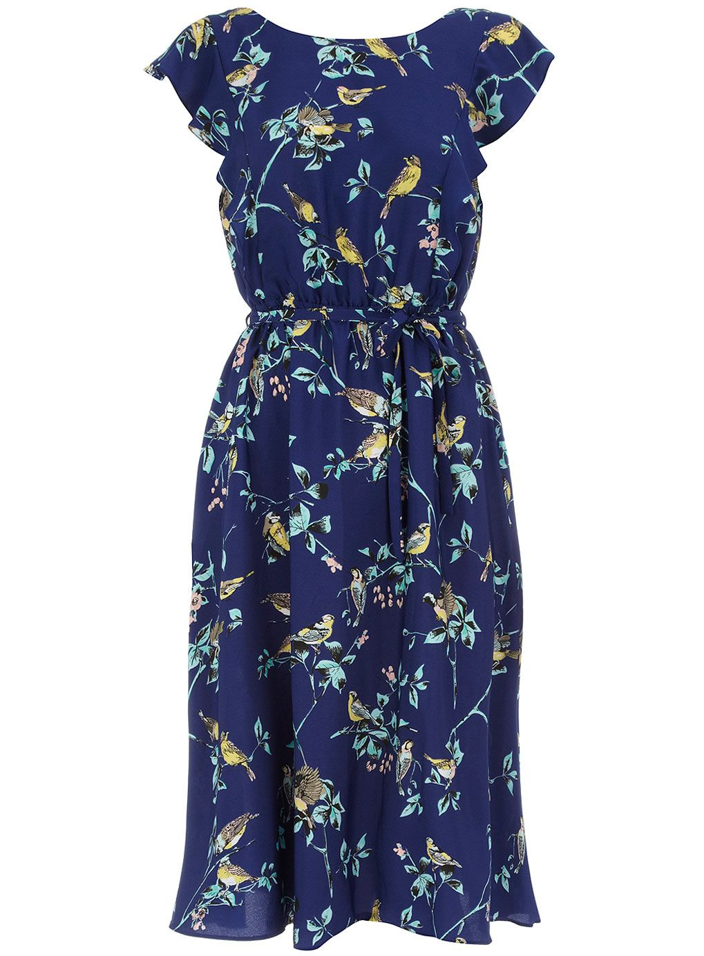 2018 For Sale For Cheap For Sale Dorothy Perkins Womens **Only Bird Print Tea Dress- 4cW2pe