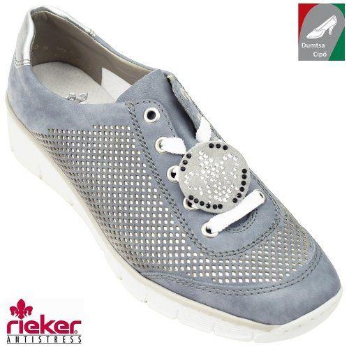 Rieker női cipő 537P2-12 kék kombi  c0e6983c5e