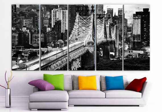 SIZE: 30 x 70 x 1.5 depth ( 30x 14x 1.5 depth each panel)    Type: Giclee artwork, print on the artist cotton Canvas Glossy finish. UV-protective
