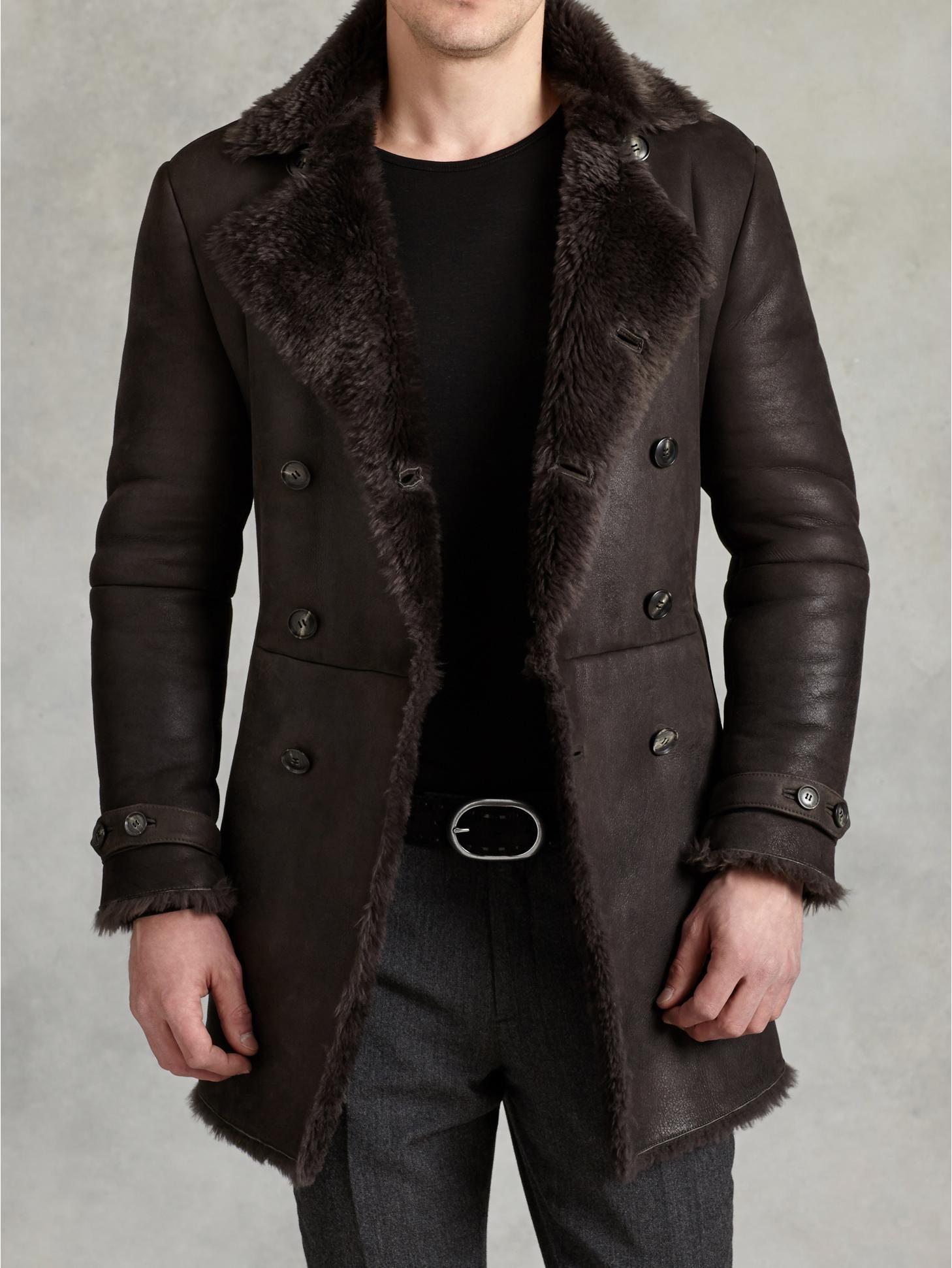 double breasted shearling coat john varvatos mens jackets #2: 22e830c2996cb e70b6e27e271c