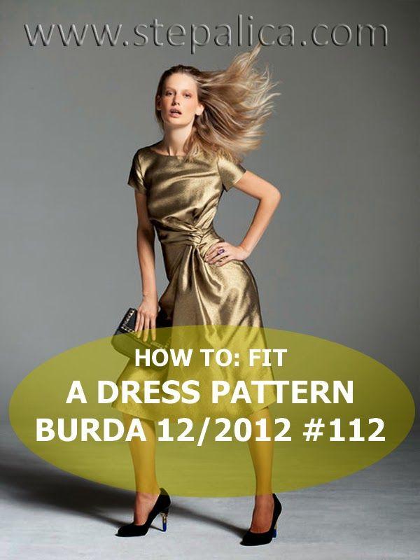 Pattern изменения для завязанного платья.Burda Style 12/2012. Обсуждение на…