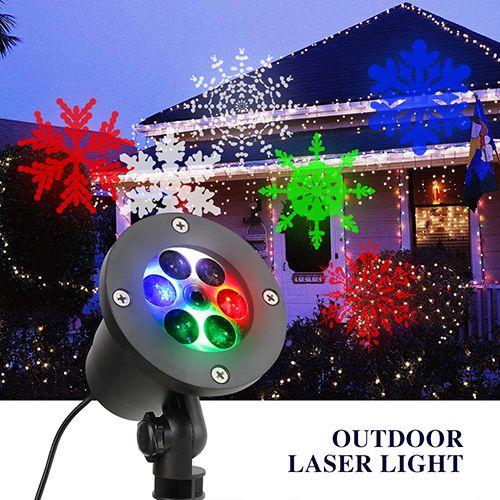 Snowflake Christmas Laser Lights Landscape Projector Lights