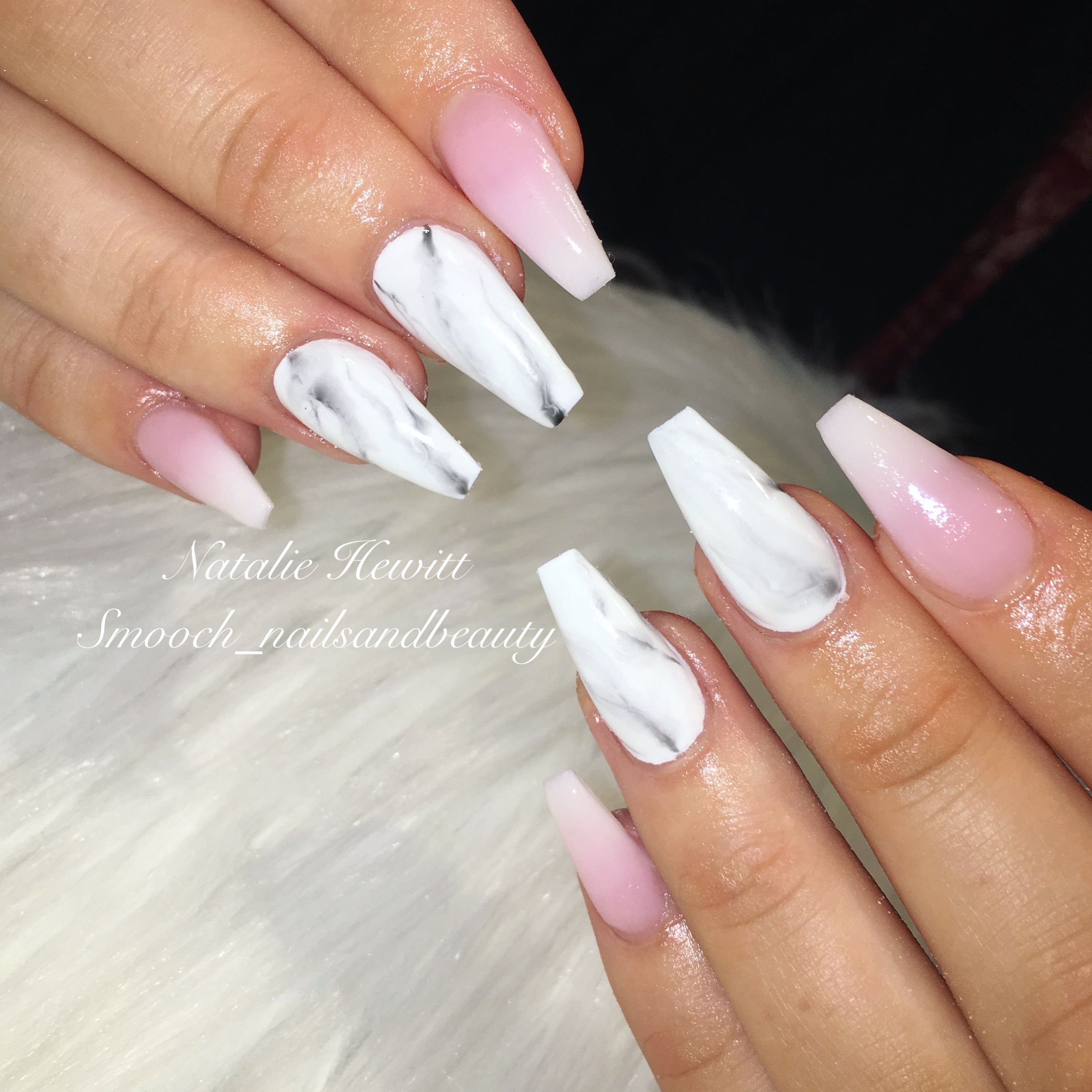 French Ombre & Marble Nails #frenchombre #ombre #ombrenails ...