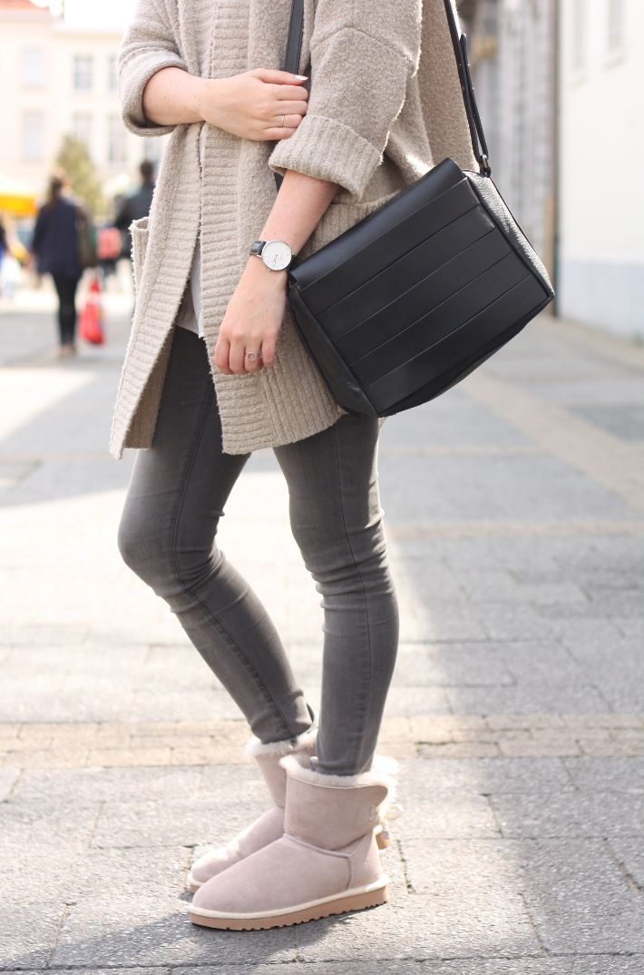 Casual Outfit Featuring Ugg Selene Booties And Oversized