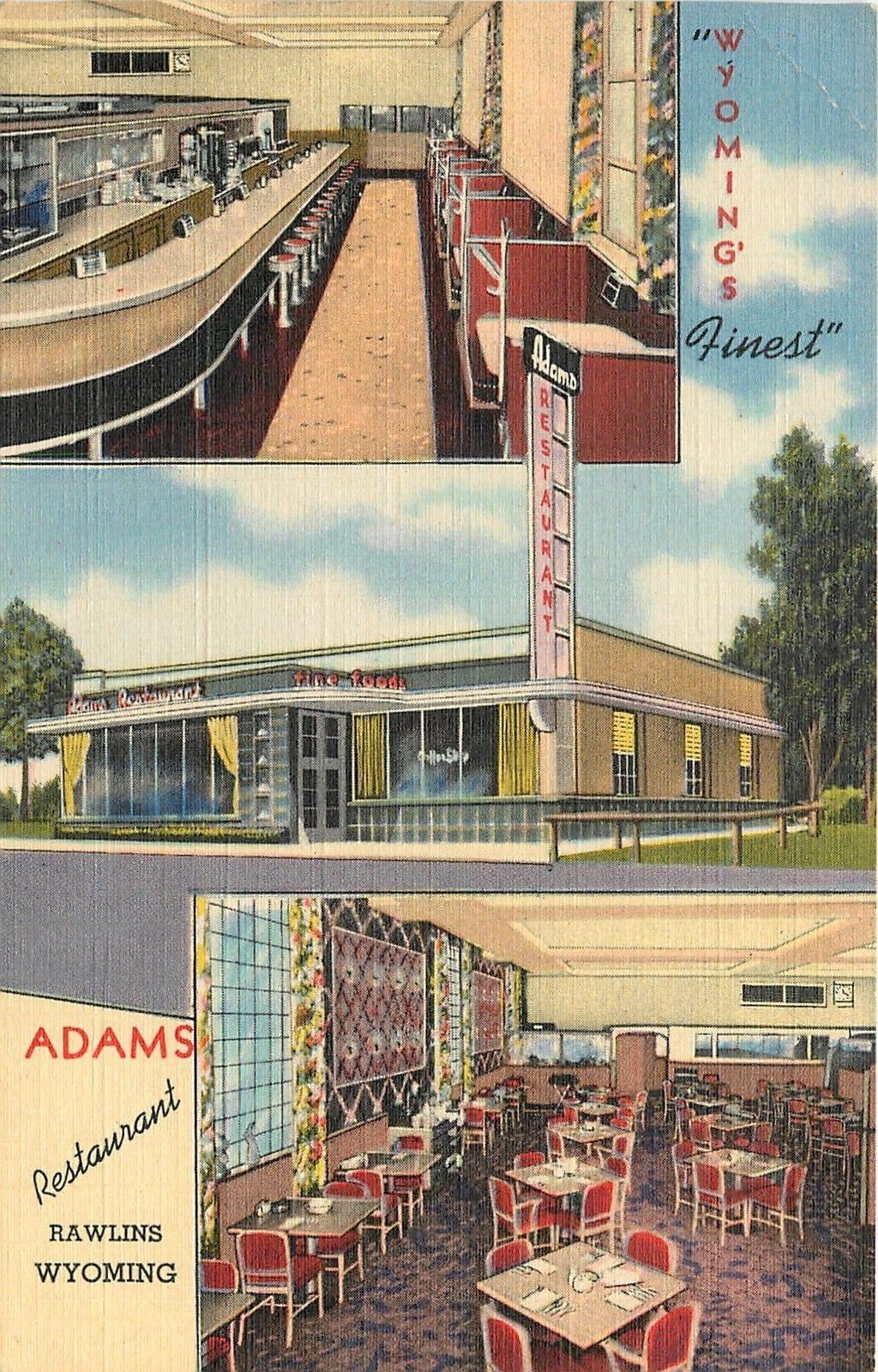 Rawlins Wyoming Adams Restaurant Us Hwy 30 1947