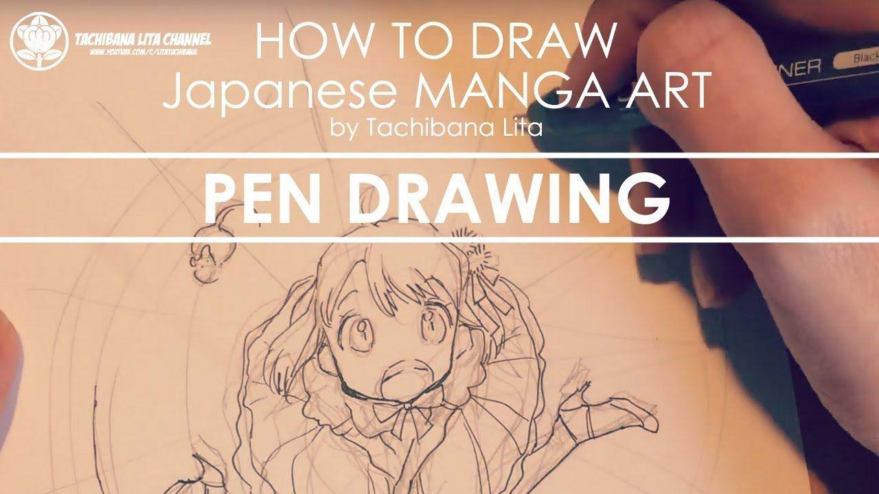 Pen Drawing * Main line #inktober2017 | How to draw Manga Art 2017.10.28