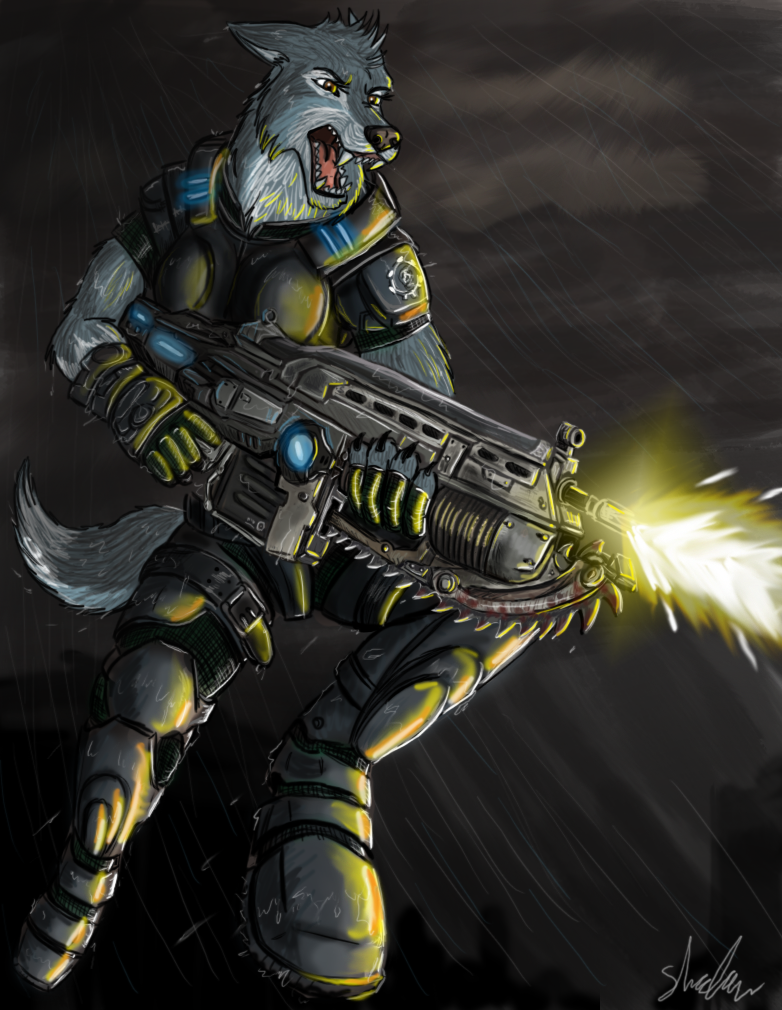 Картинка волка с автоматами