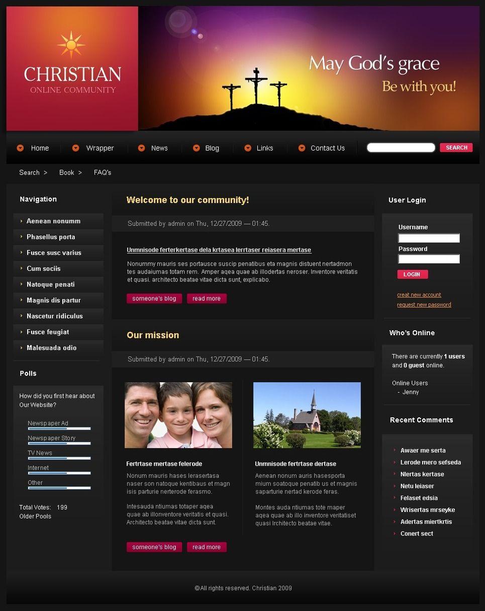 Christian Psd Template 50199 Psd Templates Templates Layout Template