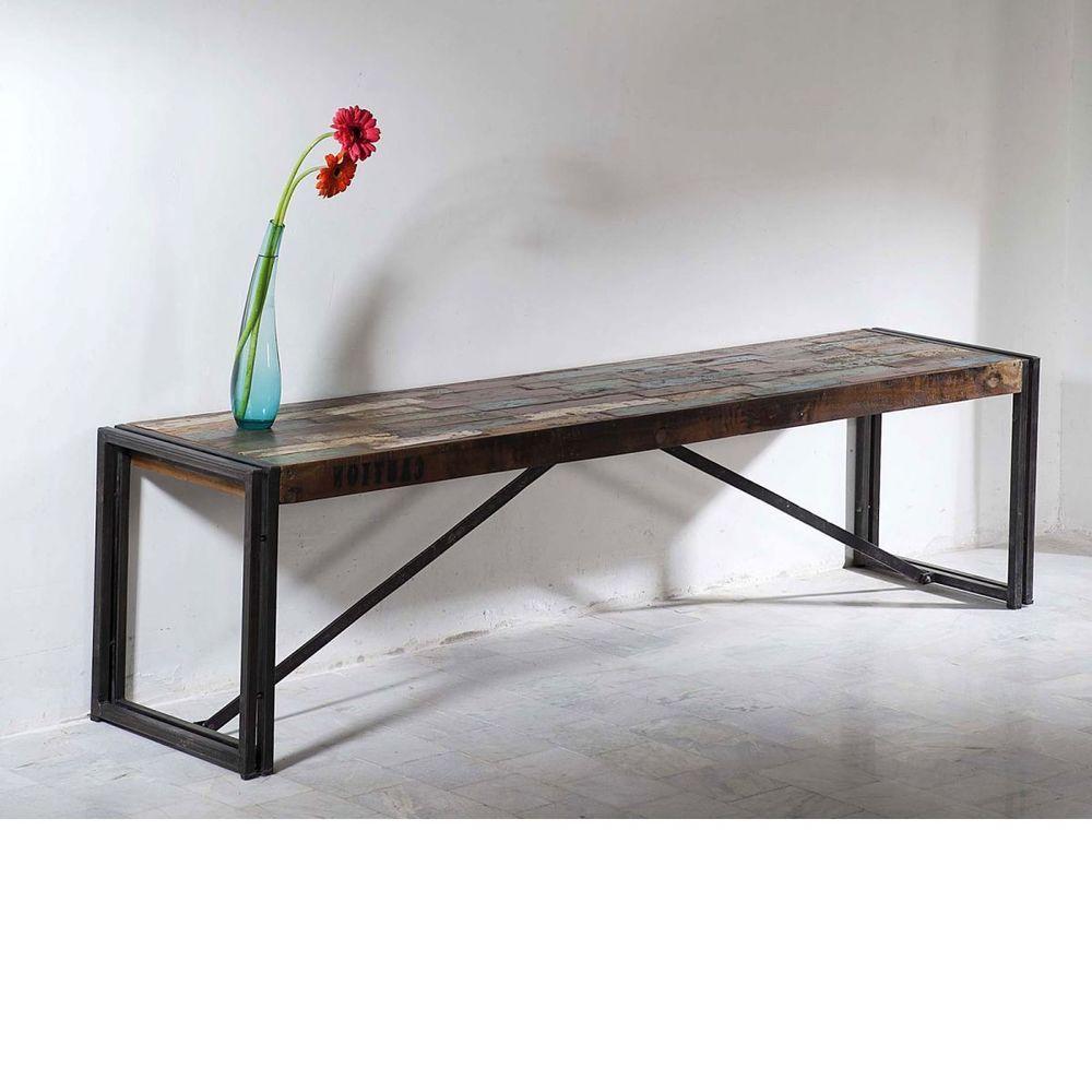 Cool Bank Möbel Dekoration Von Sitzbank Holzbank Antik Holz Metall Designer Trie