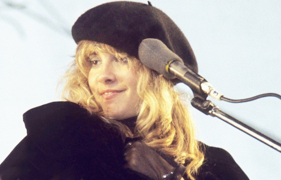 9c76e2ffec1e7 golden-haired Stevie smiling wearing a cute black beret and cape ...