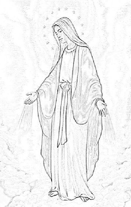 Nossa Senhora Das Gracas Para Pintar Pesquisa Google Desenhos