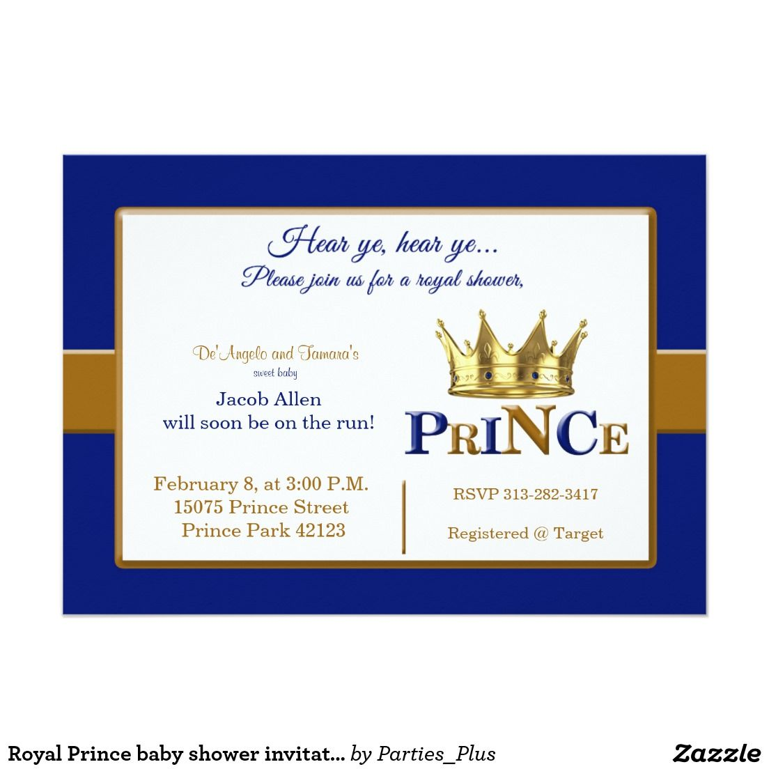Little Prince Baby Shower Invitation by HarrisCompany on Etsy ...