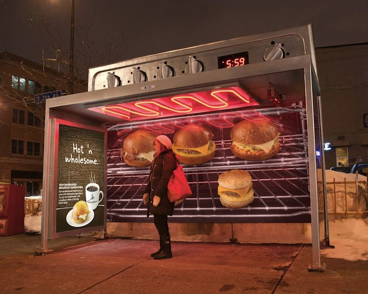 nice ovens. Creative Ad Warm Oven Bus Stop Nice Ovens