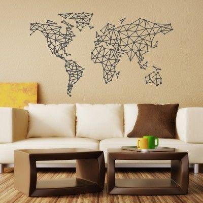 Murales Adesivi Per Pareti.Adesivo Murale Mondo Geometrico Stickers Murali Nel 2019
