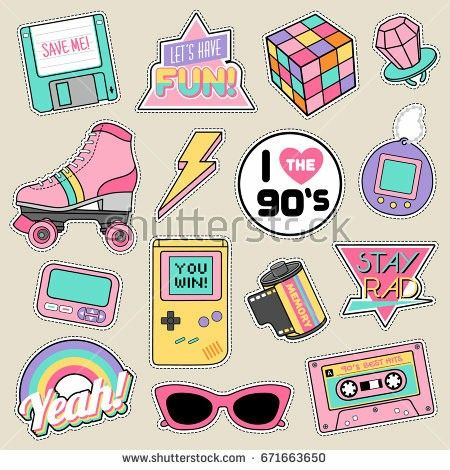 Pin By Mak Eagan On 90 S Life Aesthetic Stickers Print Stickers Printable Stickers