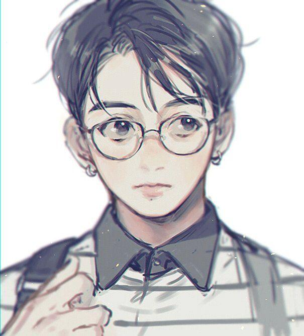 Bts Jungkook Glasses Wallpaper: BTS, Bts Chibi, Bts Drawings