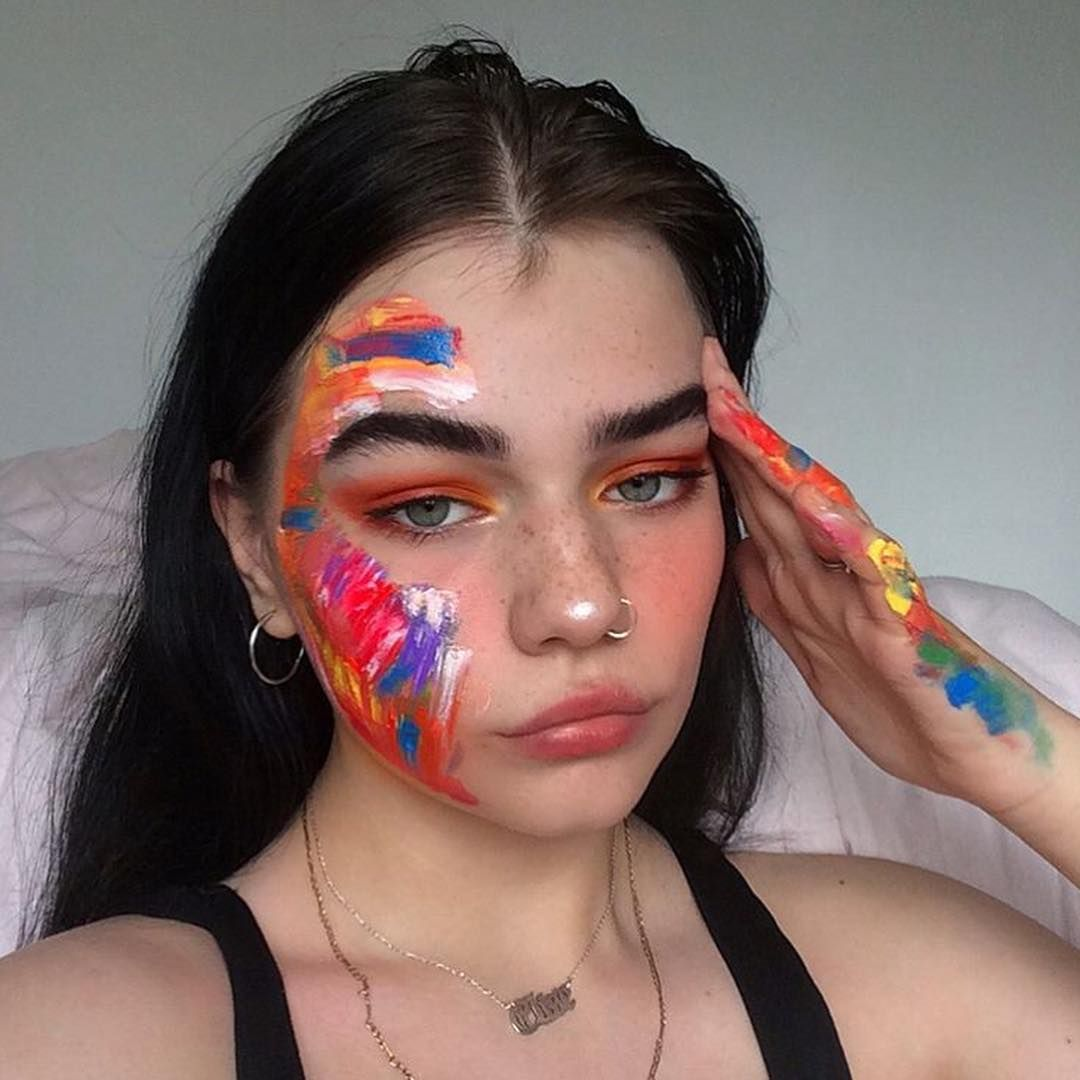 Art Hoe Aesthetic Girl Makeup