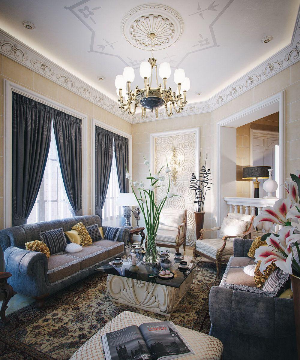 Professional luxury villa exterior designs in qatar - House Taher Design Luxury Villa Interior Qatar