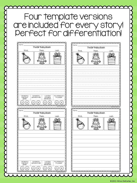 Narrative Writing Practice - Differentiated Formats! Writing - writing formats