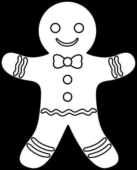 Gingerbread Man Line Art | création | Pinterest