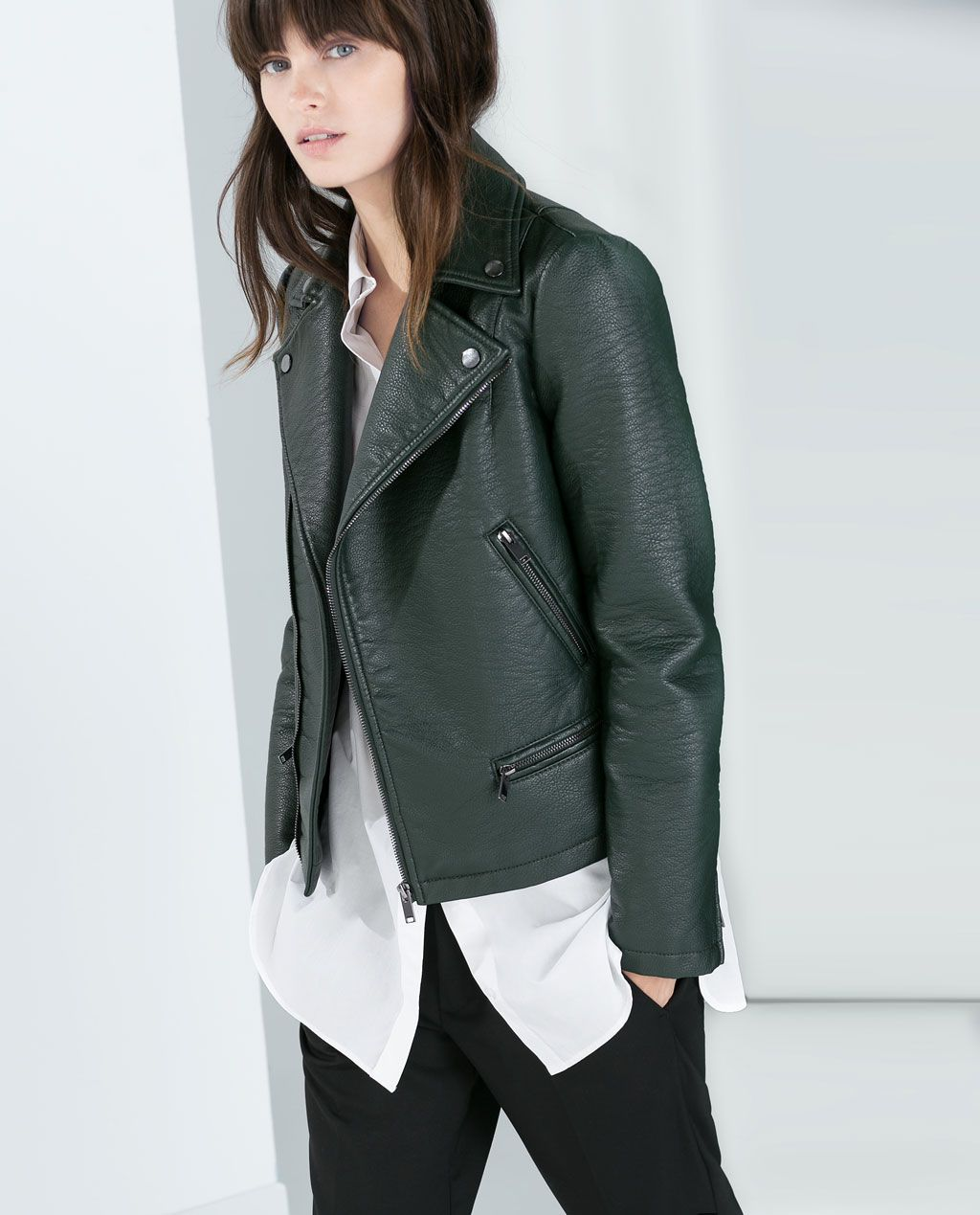 Image 2 of FAUX LEATHER JACKET from Zara Zara leather