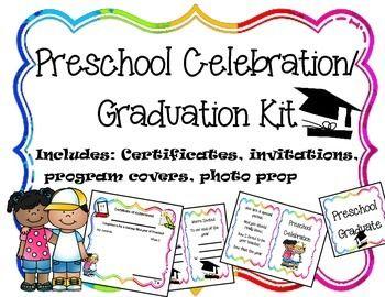 Editable Preschool Graduation Celebration Printables Preschool