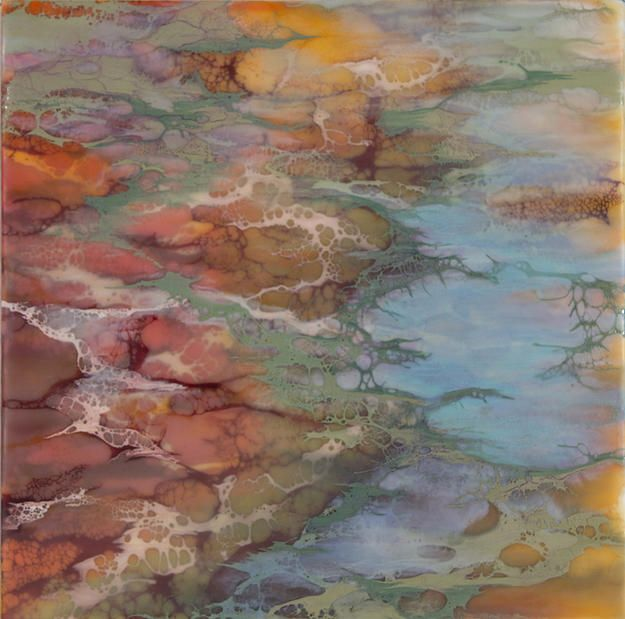 Encaustic paintings available for purchase.