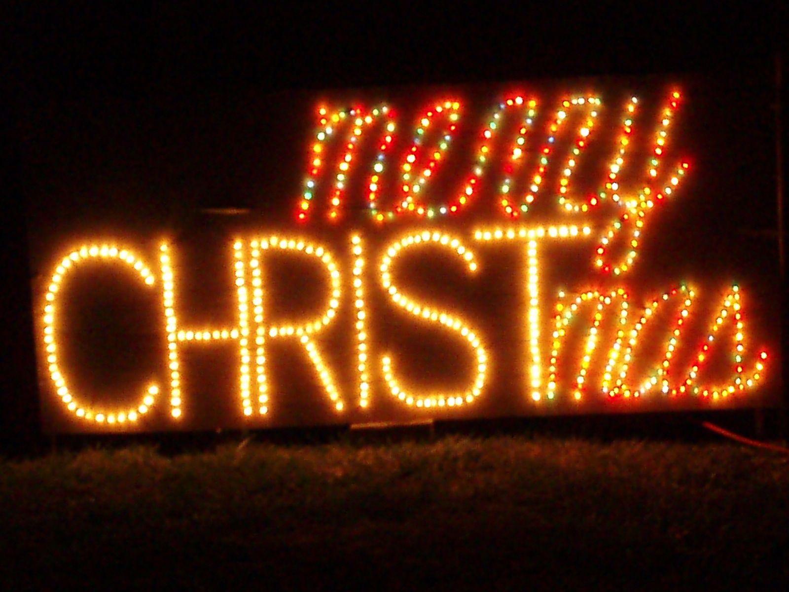 Christmas Lighted Sign.Merry Christmas Sign One Of My Favorite Christmas Lights