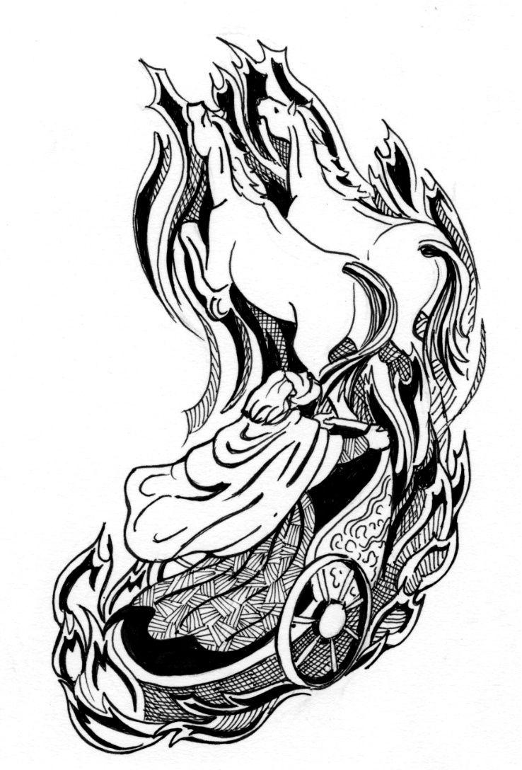 picture of chariot of fire + elijah | Dibujos Biblicos | Pinterest ...