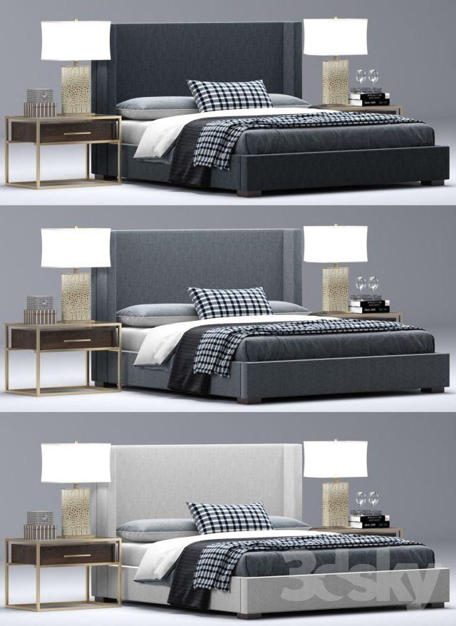 3d Models Bed Rh Modern Custom Shelter Platform Bed Platform