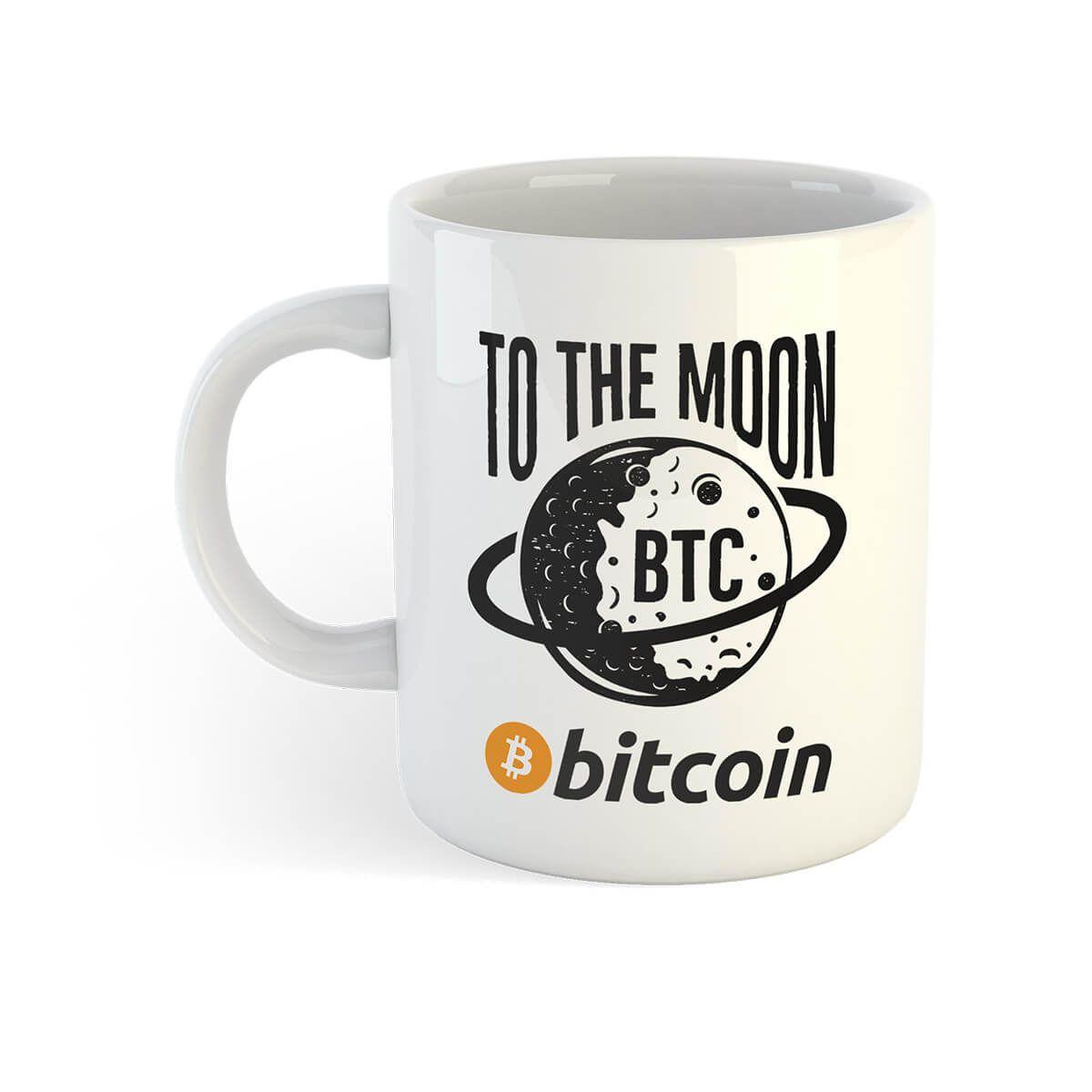 To The Moon Bitcoin Mug Bitcoin Mug, Crypto Mug, Bitcoin