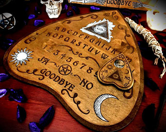Custom Diaries Books Of Shadows Wooden Items By Littlesorcerer Ouija Ouija Board Occult