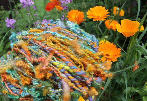 Artyarn  aus Merinowolle und Seide.   von silkcocoontextilart