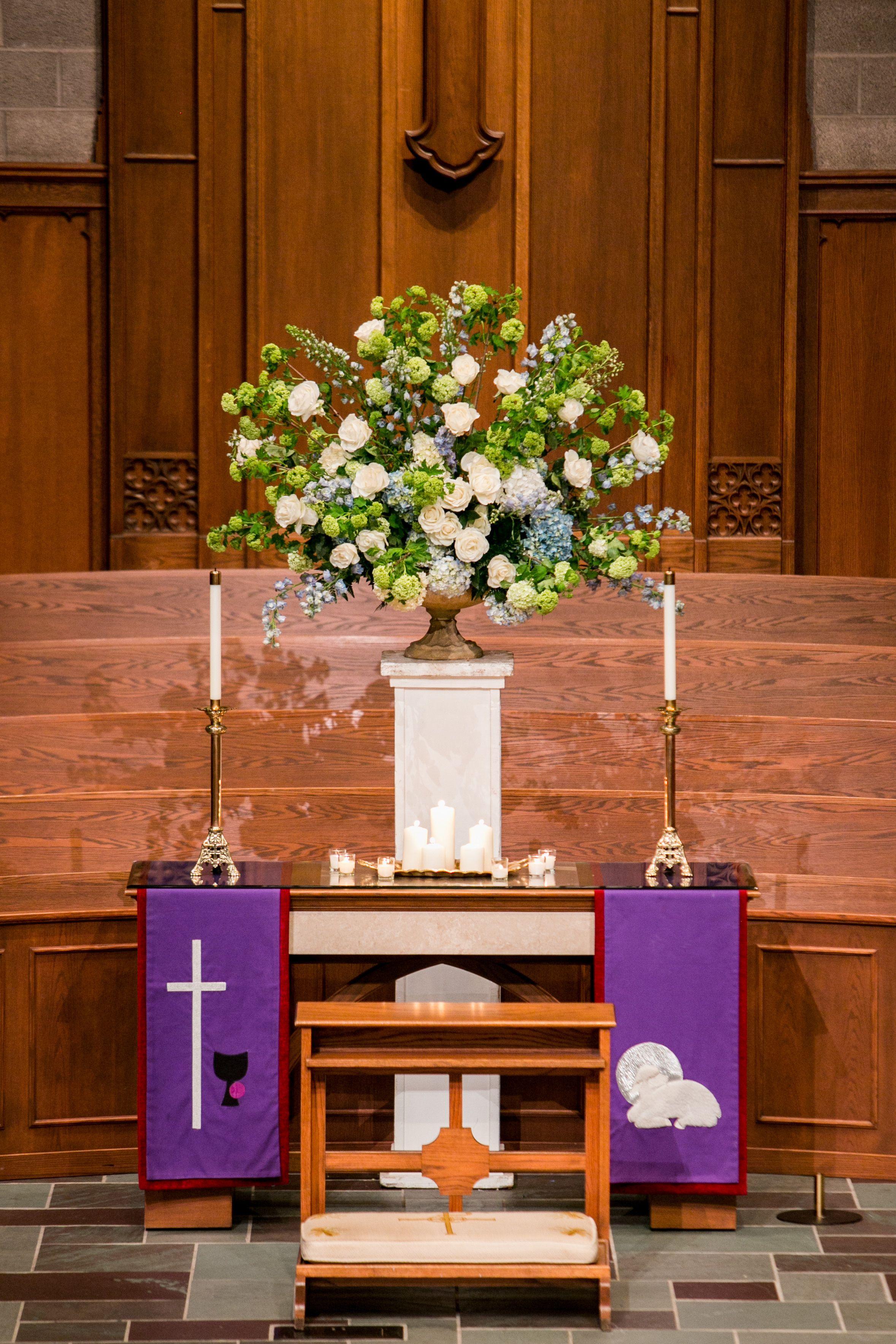 Floral arrangement flowers wedding ceremony tipton