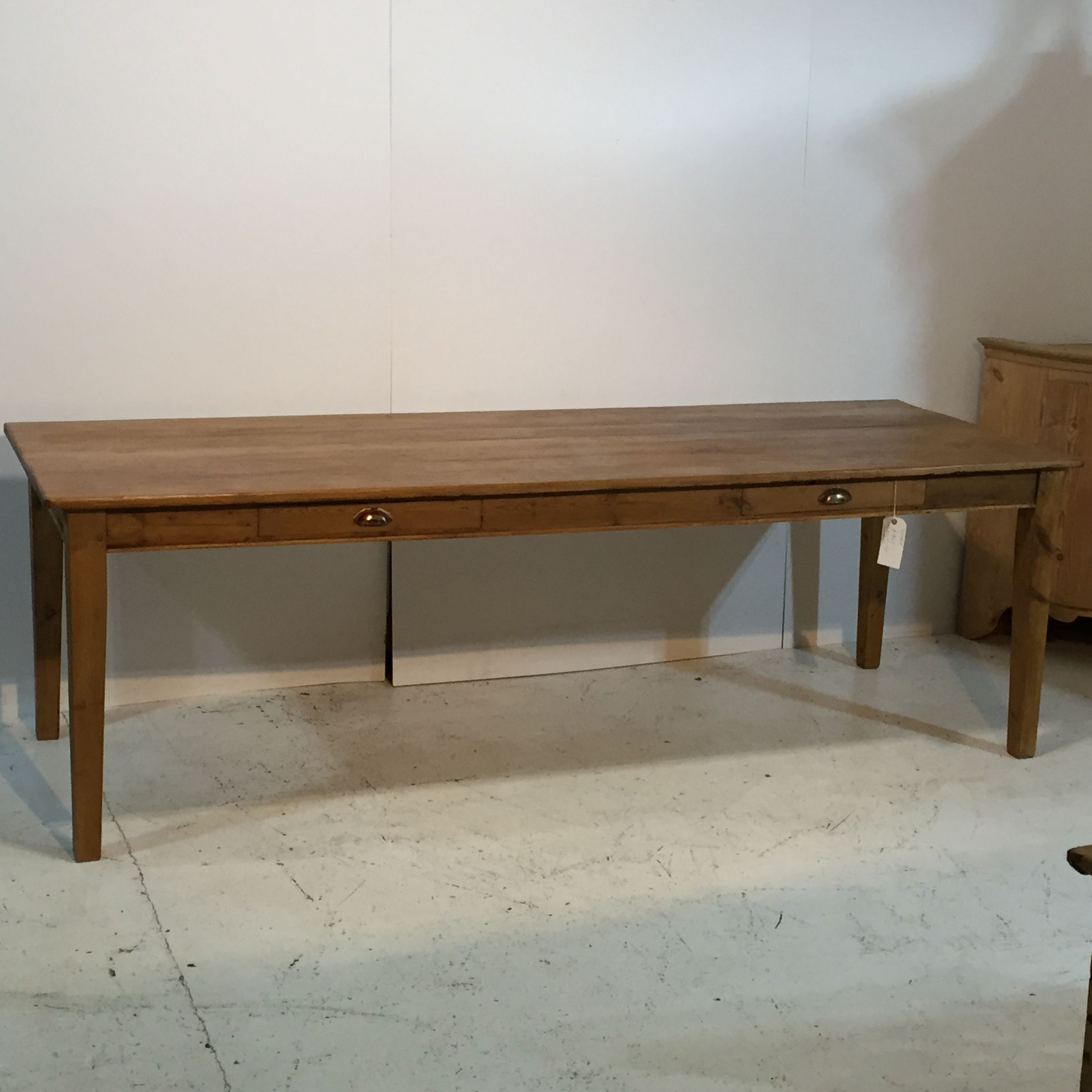8ft Table Handmade From Old Pine Floorboards T2552g Pine  # Muebles Lolo Morales